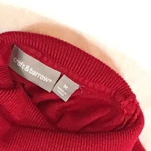 croft & barrow Sweaters - Super Soft Red Turtleneck Sweater size M